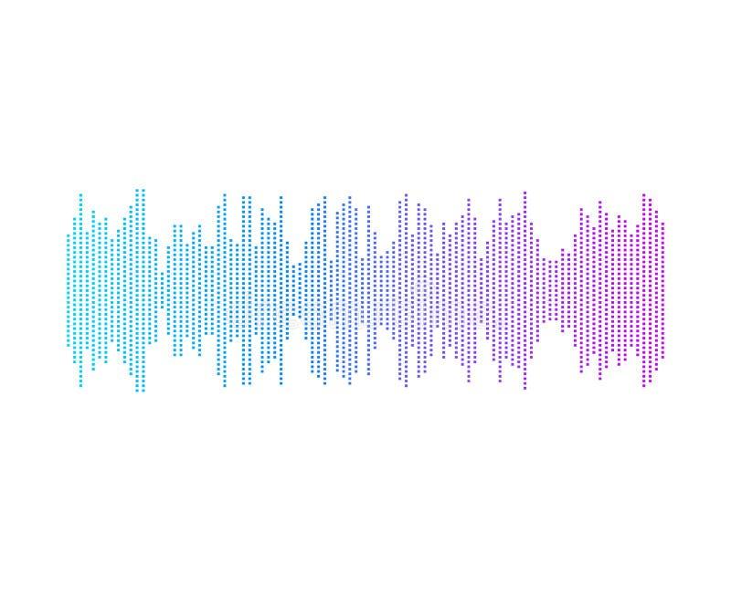 Διανυσματικό αφηρημένο κύμα μουσικής, εικονίδιο φορέων, φωτεινά χρώματα κλίσης, που απομονώνονται διανυσματική απεικόνιση