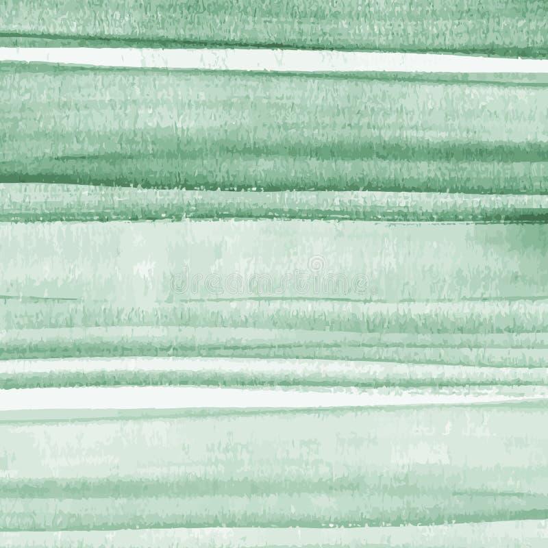 Διανυσματικό αφηρημένο πράσινο υπόβαθρο watercolor με τη σύσταση grunge Χρωματισμένη χέρι διανυσματική απεικόνιση απεικόνιση αποθεμάτων