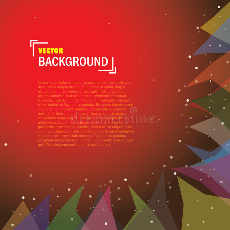 Διανυσματικό αφηρημένο σχέδιο υποβάθρου με τα ζωηρόχρωμα τρίγωνα απεικόνιση αποθεμάτων