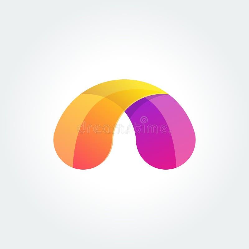 Διανυσματικό αφηρημένο σχεδιάγραμμα προτύπων λογότυπων Αφηρημένο ζωηρόχρωμο δημιουργικό σημάδι ή εικονίδιο ελεύθερη απεικόνιση δικαιώματος