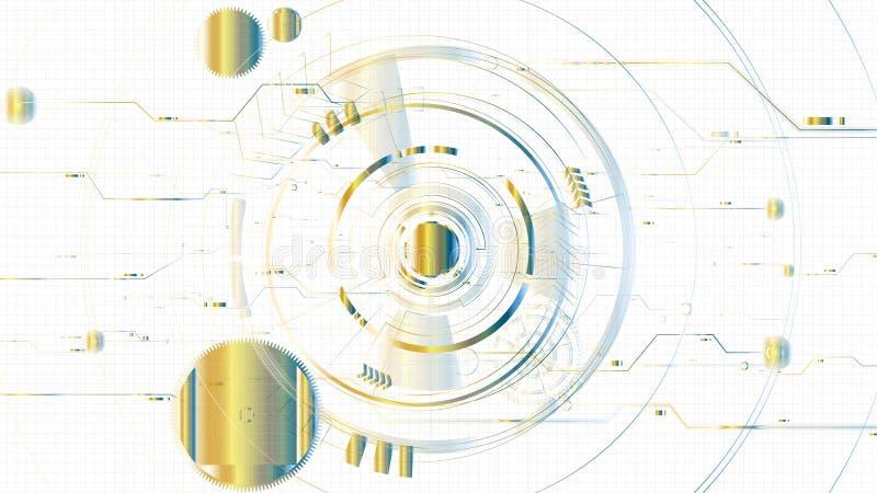 Διανυσματικό αφηρημένο τεχνολογικό φωτισμένο υπόβαθρο προτύπων σκίτσων διανυσματική απεικόνιση