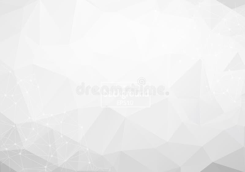 Διανυσματικό αφηρημένο υπόβαθρο επιστήμης Polygonal γεωμετρικό σχέδιο 10 eps διανυσματική απεικόνιση