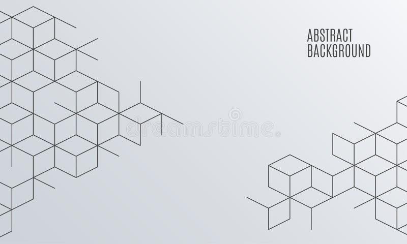 Διανυσματικό αφηρημένο υπόβαθρο κιβωτίων Τετραγωνικό πλέγμα ελεύθερη απεικόνιση δικαιώματος