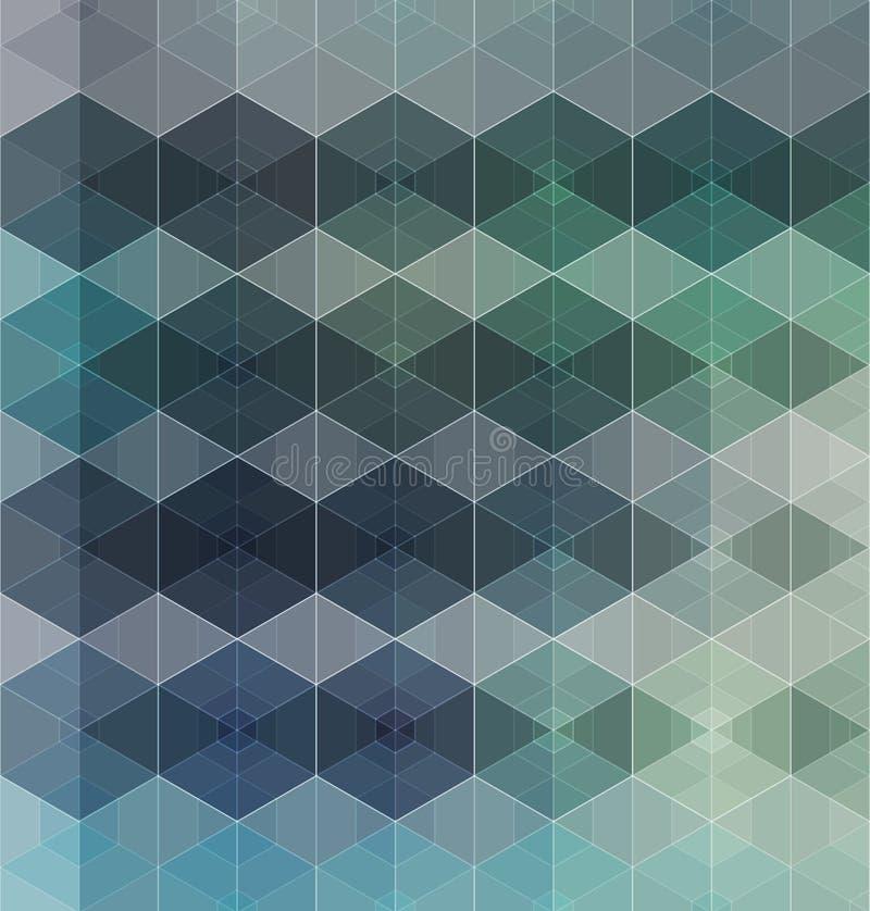 Διανυσματικό αφηρημένο υπόβαθρο κιβωτίων διανυσματική απεικόνιση