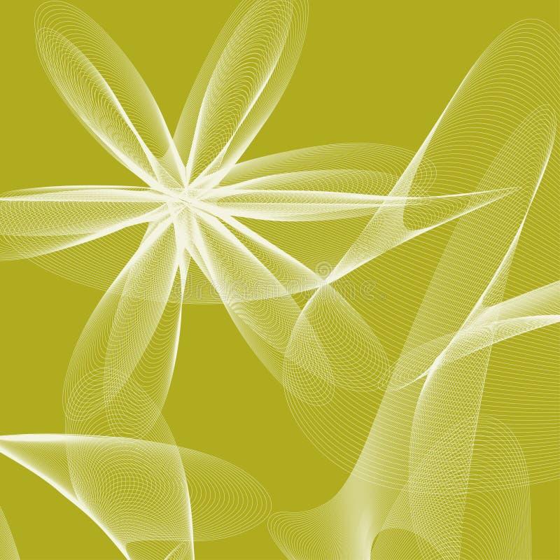 Διανυσματικό αφηρημένο υπόβαθρο με τα λουλούδια των γραμμών ελεύθερη απεικόνιση δικαιώματος