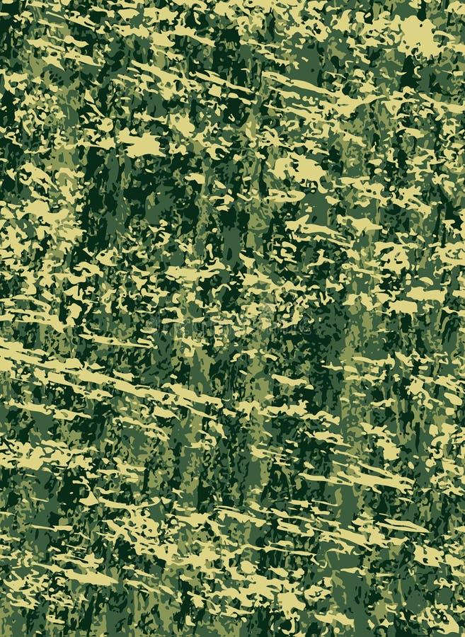 Διανυσματικό αφηρημένο υπόβαθρο στρατιωτικής ή κάλυψης κυνηγιού χακί σύσταση απεικόνιση αποθεμάτων