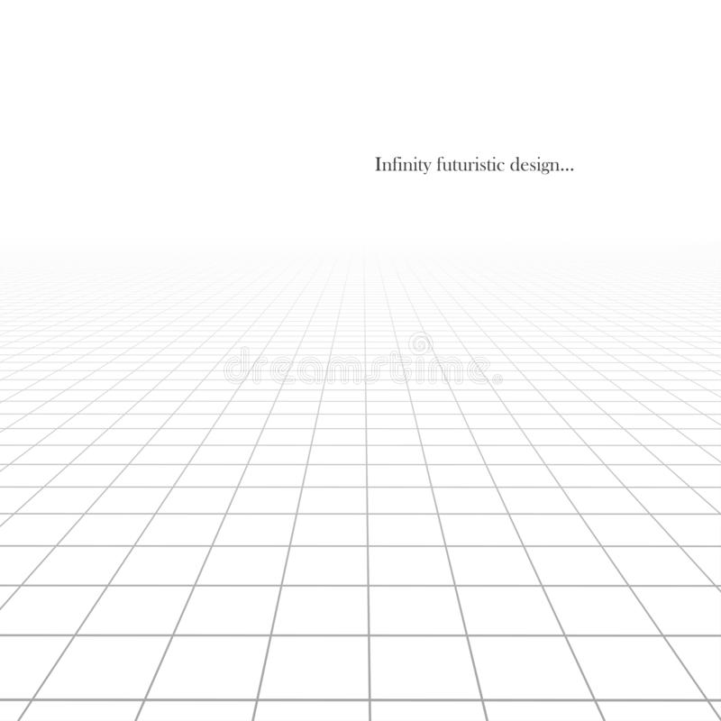 Διανυσματικό αφηρημένο φουτουριστικό υπόβαθρο με την προοπτική οράμα διανυσματική απεικόνιση