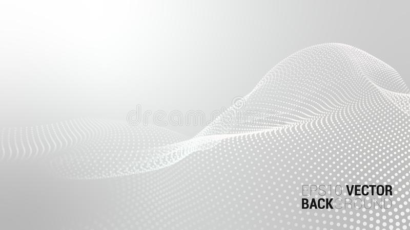 Διανυσματικό αφηρημένο φουτουριστικό ψηφιακό τοπίο στοκ εικόνες με δικαίωμα ελεύθερης χρήσης