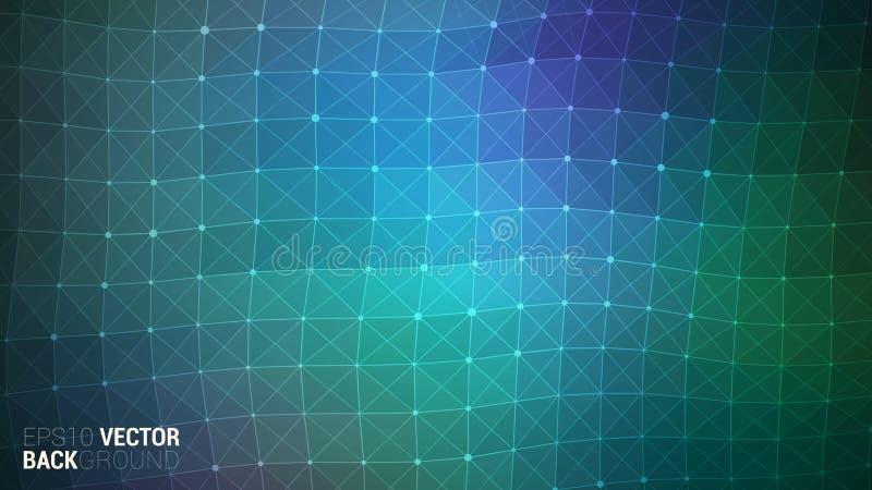 Διανυσματικό αφηρημένο φουτουριστικό ψηφιακό τοπίο στοκ εικόνα