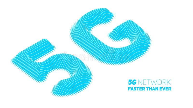 Διανυσματικό αφηρημένο 5G νέο ασύρματο υπόβαθρο σύνδεσης στο Διαδίκτυο Δίκτυο υψηλής ταχύτητας παγκόσμιων δικτύων Αφηρημένο μπλε  διανυσματική απεικόνιση