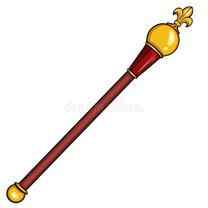 Διανυσματικό βασιλικό scepter κινούμενων σχεδίων στοκ φωτογραφία