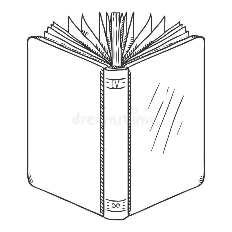 Διανυσματικό βιβλίο Hardcover σκίτσων ανοικτό διανυσματική απεικόνιση
