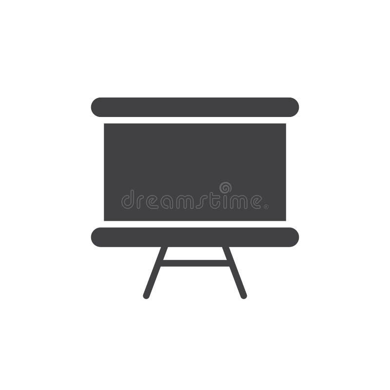 Διανυσματικό, γεμισμένο επίπεδο σημάδι εικονιδίων Whiteboard, στερεό εικονόγραμμα που απομονώνεται στο λευκό διανυσματική απεικόνιση