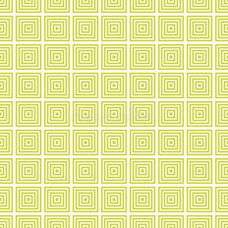 Διανυσματικό γεωμετρικό άνευ ραφής σχέδιο με τα τετράγωνα, γραμμές E ελεύθερη απεικόνιση δικαιώματος