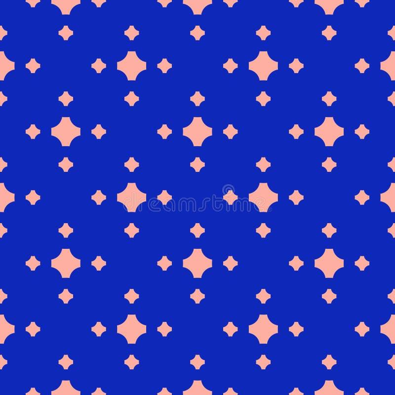 Διανυσματικό γεωμετρικό άνευ ραφής σχέδιο με τους μικρούς σταυρούς Φωτεινό μπλε και ρόδινο χρώμα ελεύθερη απεικόνιση δικαιώματος