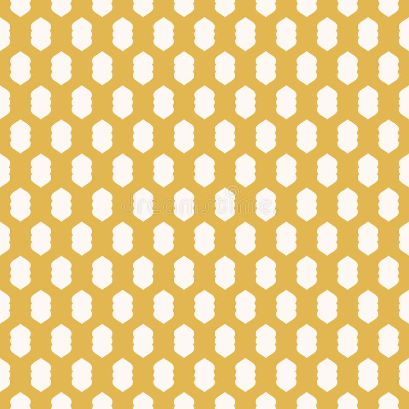 Διανυσματικό γεωμετρικό άνευ ραφής σχέδιο με το χρυσό πλέγμα, πλέγμα, δικτυωτό πλέγμα, ύφασμα απεικόνιση αποθεμάτων