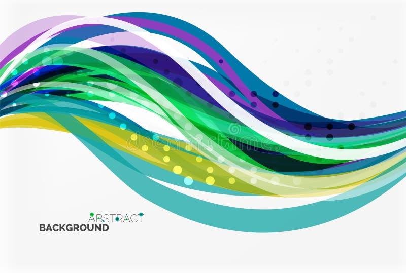 Διανυσματικό γεωμετρικό ρέοντας αφηρημένο υπόβαθρο γραμμών ελεύθερη απεικόνιση δικαιώματος