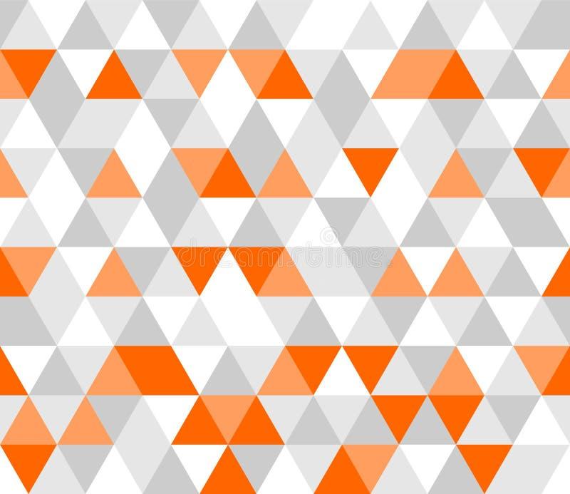 Διανυσματικό γκρίζο, άσπρο και πορτοκαλί σχέδιο κεραμιδιών διανυσματική απεικόνιση