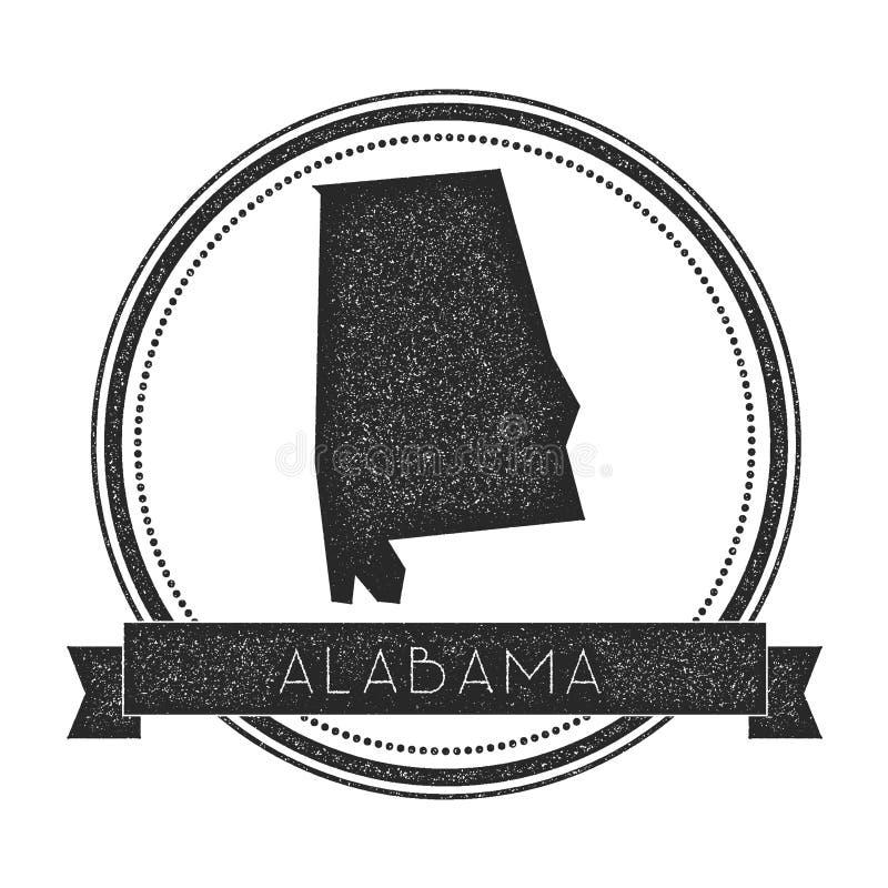 Διανυσματικό γραμματόσημο χαρτών της Αλαμπάμα ελεύθερη απεικόνιση δικαιώματος