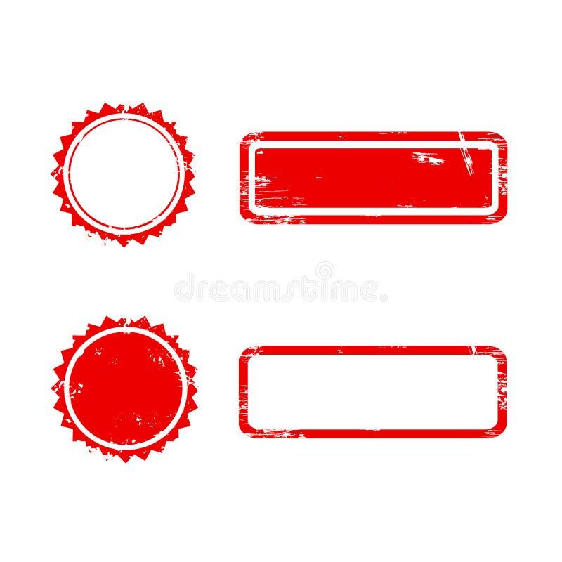 Διανυσματικό γραμματόσημο χωρίς κείμενο απεικόνιση αποθεμάτων