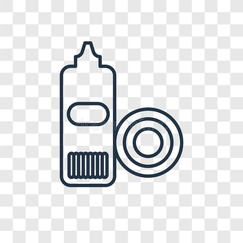 Διανυσματικό γραμμικό εικονίδιο έννοιας πιάτων πλύσης που απομονώνεται σε διαφανή ελεύθερη απεικόνιση δικαιώματος