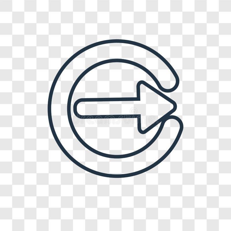 Διανυσματικό γραμμικό εικονίδιο έννοιας σωστών βελών που απομονώνεται στο διαφανές β ελεύθερη απεικόνιση δικαιώματος