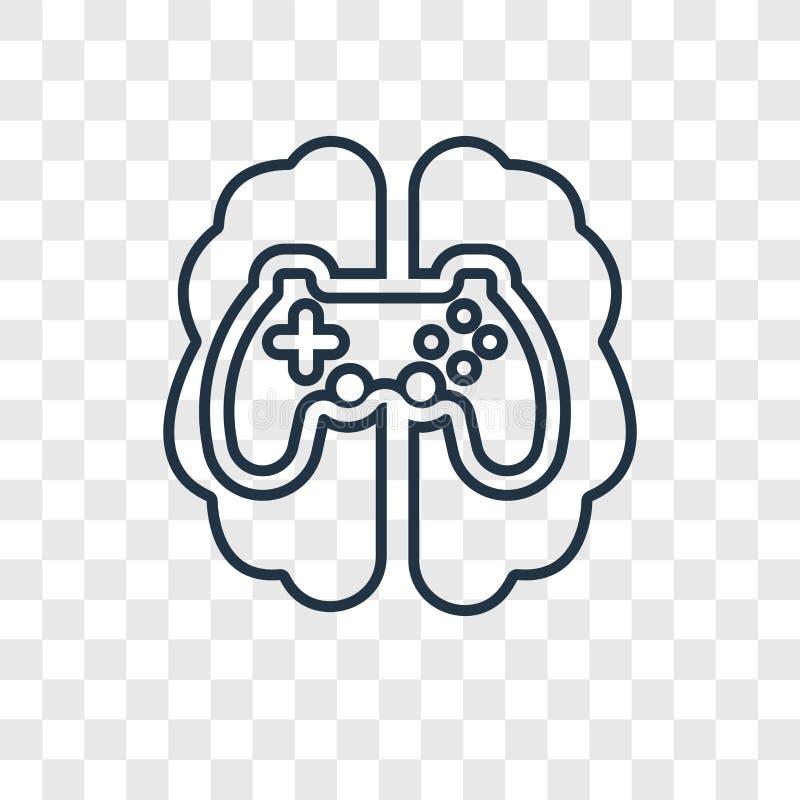 Διανυσματικό γραμμικό εικονίδιο έννοιας τυχερού παιχνιδιού που απομονώνεται στο διαφανές backgr διανυσματική απεικόνιση