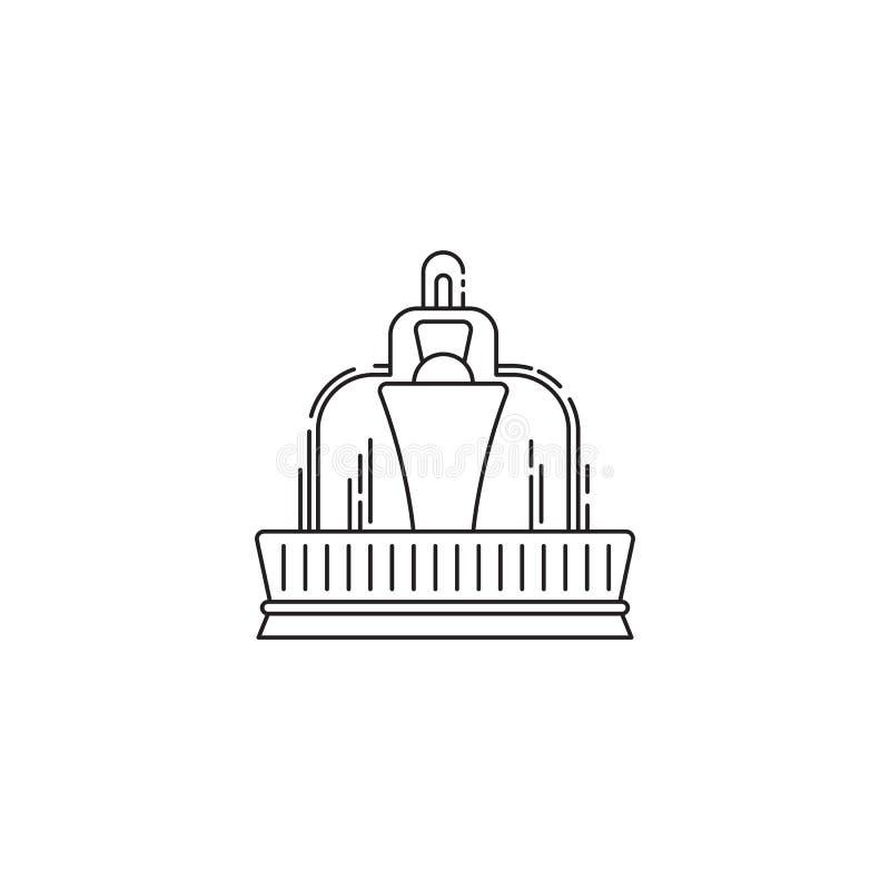 Διανυσματικό γραμμικό σχέδιο εικονιδίων πηγών που απομονώνεται στο άσπρο υπόβαθρο Πρότυπο λογότυπων πάρκων, στοιχείο για το λούνα απεικόνιση αποθεμάτων