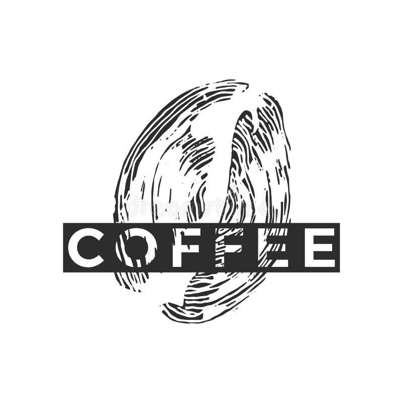 Διανυσματικό γραφικό λογότυπο Έμβλημα καφέ ελεύθερη απεικόνιση δικαιώματος