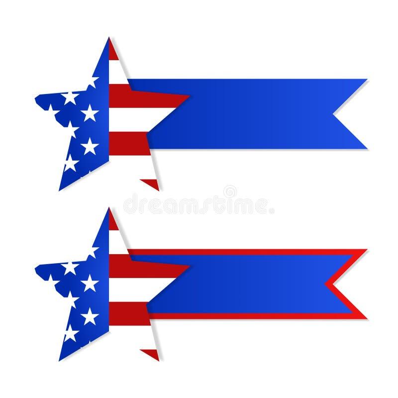 Διανυσματικό διάνυσμα σχεδίου έννοιας σημαιών αμερικανικών σημαιών αποθεμάτων illustrat απεικόνιση αποθεμάτων
