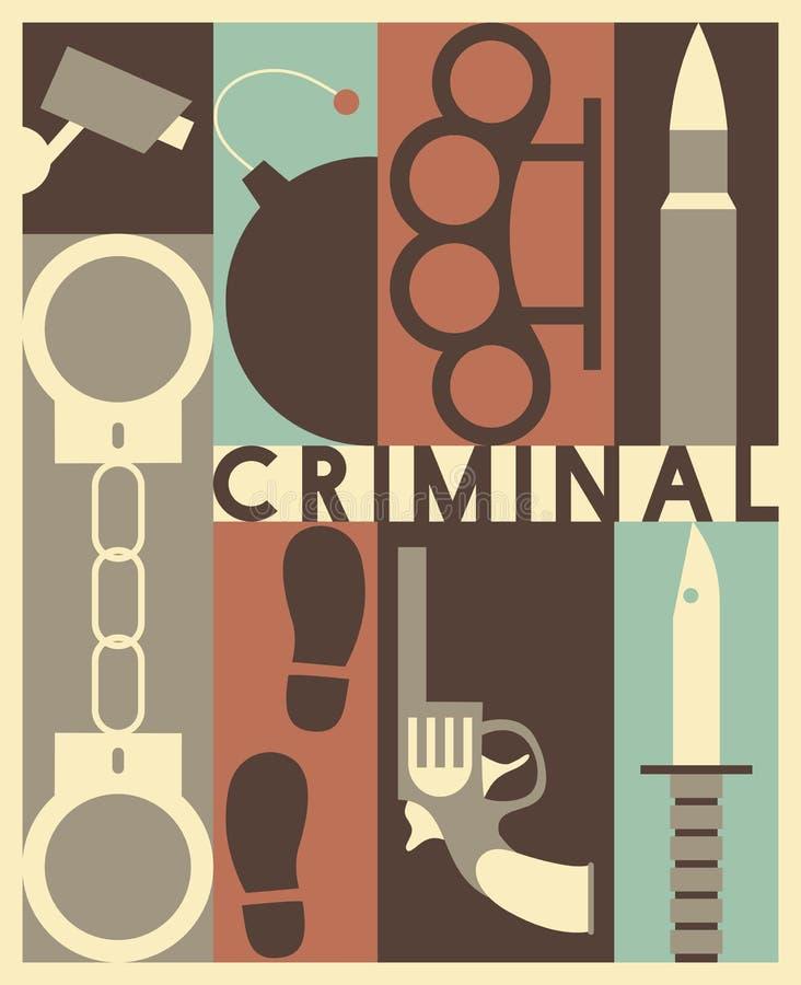 Διανυσματικό εγκληματικό υπόβαθρο απεικόνιση αποθεμάτων