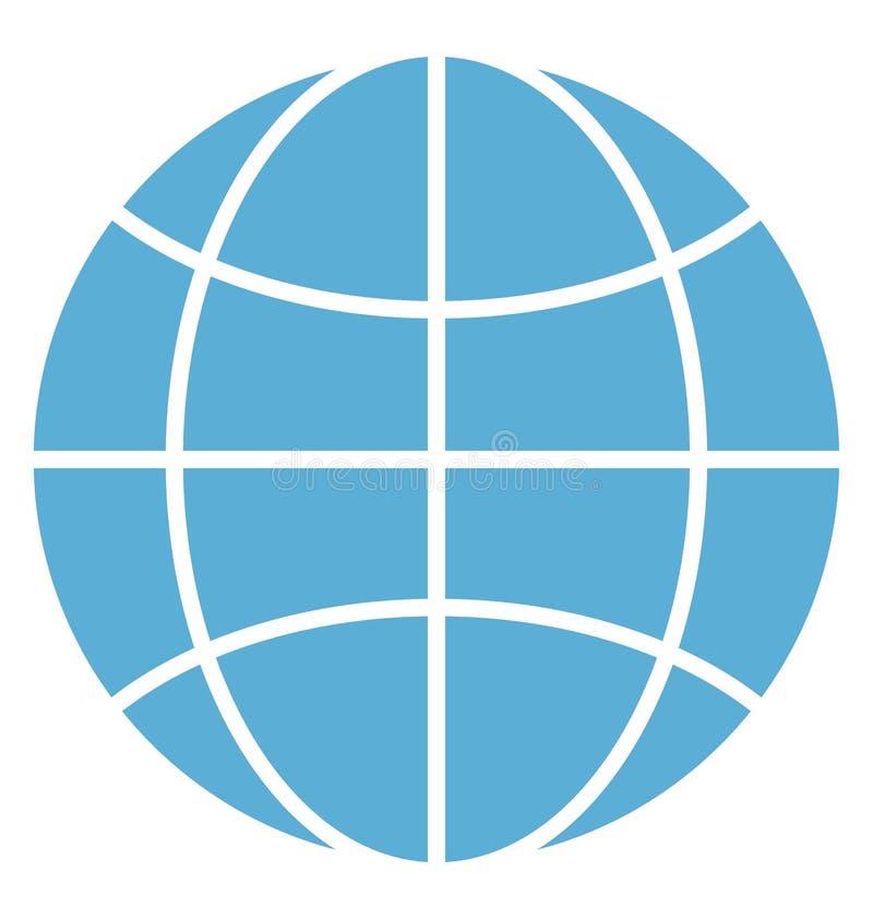 Διανυσματικό εικονίδιο έγχρωμης εικονογράφησης παγκόσμιων δικτύων διανυσματική απεικόνιση