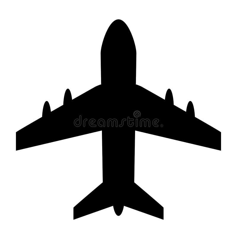 Διανυσματικό εικονίδιο αεροπλάνων ελεύθερη απεικόνιση δικαιώματος