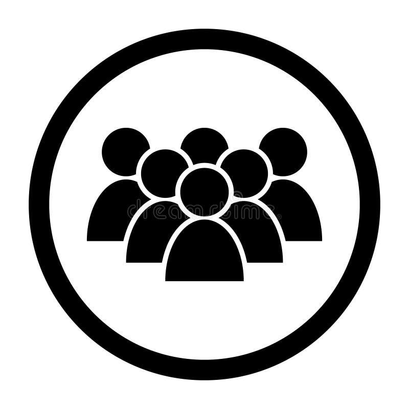 Διανυσματικό εικονίδιο ανθρώπων Απεικόνιση συμβόλων ομάδας ανθρώπων λογότυπο ομάδας επιχειρηματιών Οι πολλαπλάσιοι χρήστες σκιαγρ ελεύθερη απεικόνιση δικαιώματος