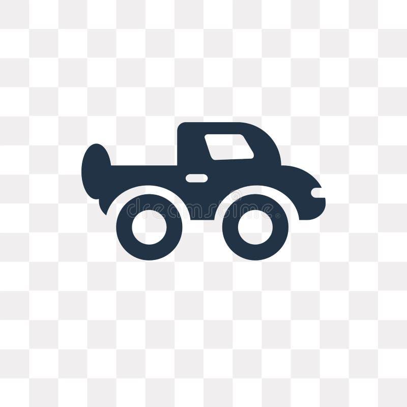Διανυσματικό εικονίδιο ανοιχτών φορτηγών που απομονώνεται στο διαφανές υπόβαθρο, PIC απεικόνιση αποθεμάτων
