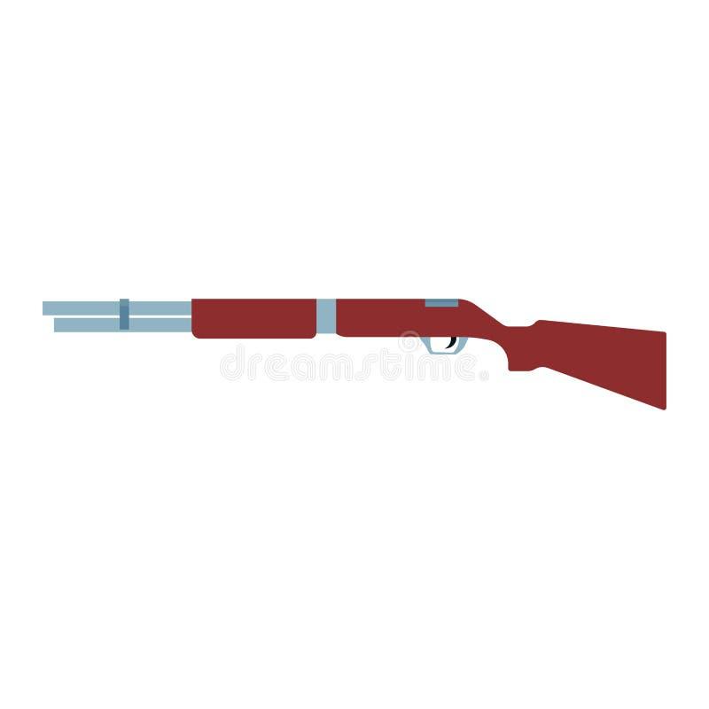 Διανυσματικό εικονίδιο απεικόνισης κυνηγετικών όπλων rifel Στόχος βαρελιών όπλων πυροβόλων όπλων κυνηγιού Καφετιά απλή πάπια cali διανυσματική απεικόνιση