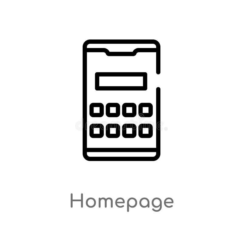 διανυσματικό εικονίδιο αρχικών σελίδων περιλήψεων απομονωμένη μαύρη απλή απεικόνιση στοιχείων γραμμών από την κινητή app έννοια Δ απεικόνιση αποθεμάτων