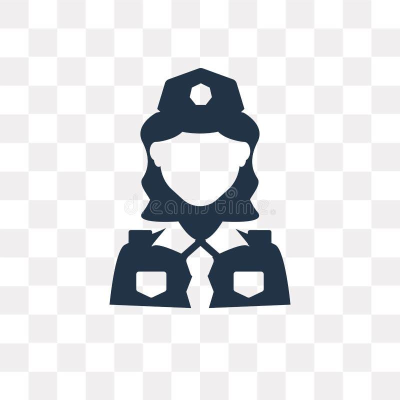 Διανυσματικό εικονίδιο αστυνομικινών που απομονώνεται στο διαφανές υπόβαθρο, Poli απεικόνιση αποθεμάτων