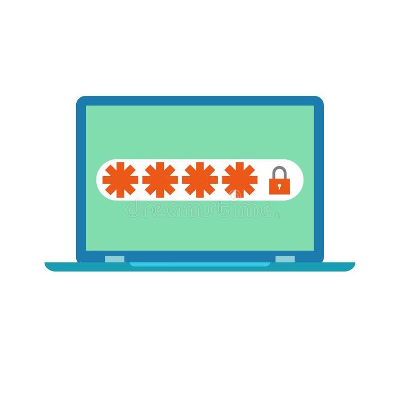 Διανυσματικό εικονίδιο ασφάλειας κωδικού πρόσβασης ελεύθερη απεικόνιση δικαιώματος
