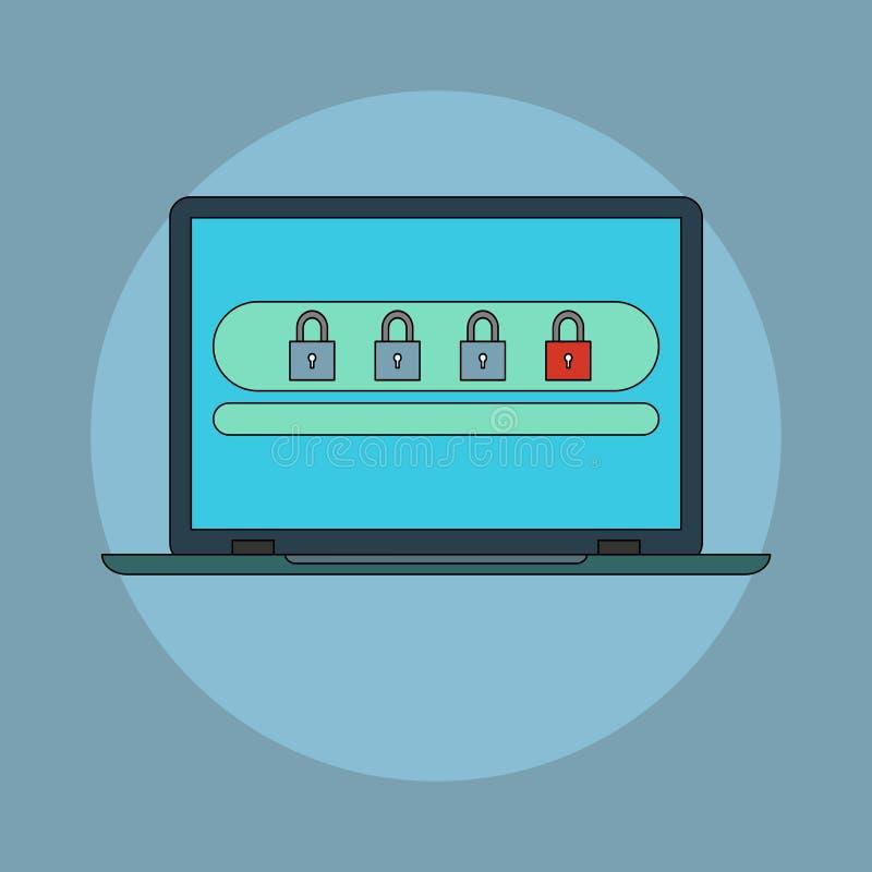 Διανυσματικό εικονίδιο ασφάλειας κωδικού πρόσβασης απεικόνιση αποθεμάτων
