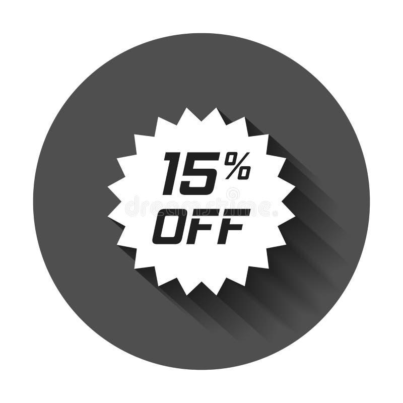 Διανυσματικό εικονίδιο αυτοκόλλητων ετικεττών έκπτωσης στο επίπεδο ύφος Σημάδι ετικεττών πώλησης illust ελεύθερη απεικόνιση δικαιώματος