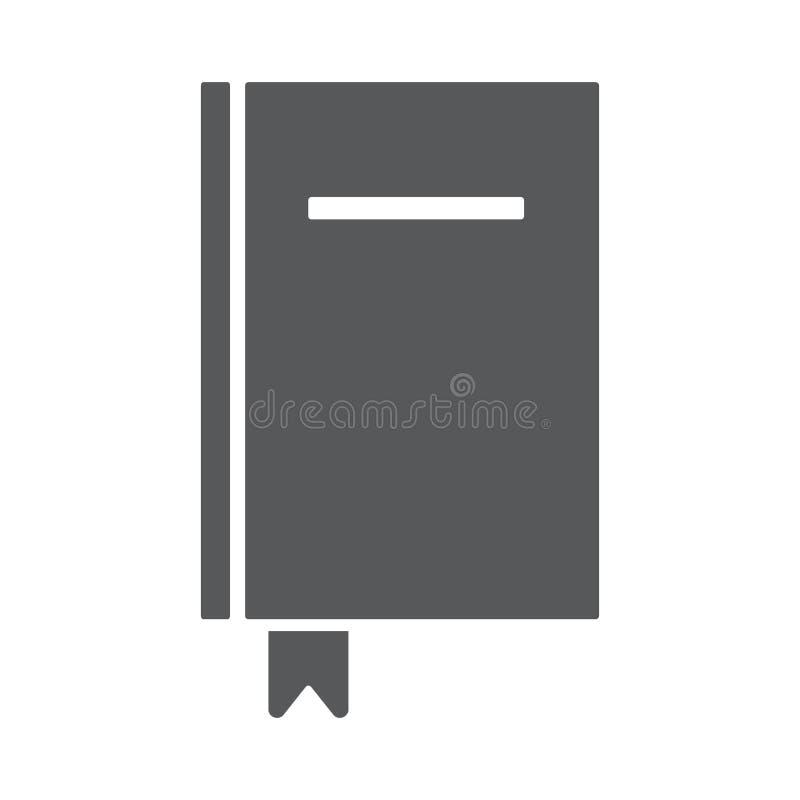 Διανυσματικό εικονίδιο βιβλίων ελεύθερη απεικόνιση δικαιώματος