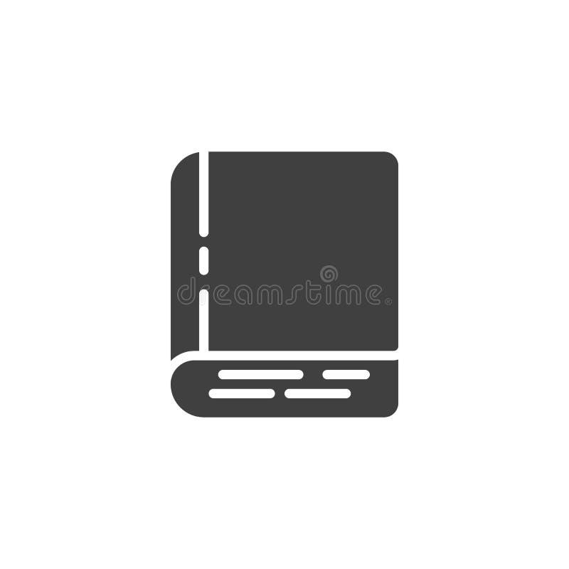 Διανυσματικό εικονίδιο βιβλίων Hardcover ελεύθερη απεικόνιση δικαιώματος