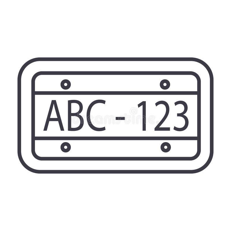 Διανυσματικό εικονίδιο γραμμών αριθμού αυτοκινήτων, σημάδι, απεικόνιση στο υπόβαθρο, editable κτυπήματα διανυσματική απεικόνιση