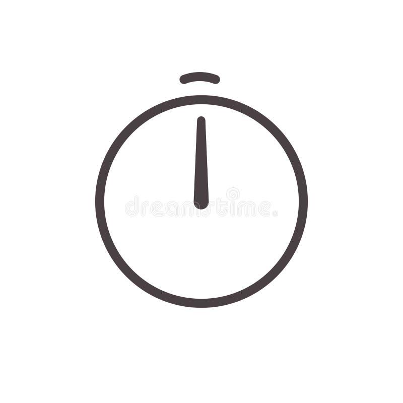 Διανυσματικό εικονίδιο γραμμών βελών ξυπνητηριών Απλό πρότυπο ενδιάμεσων με τον χρήστη σημαδιών ρολογιών χρονομέτρων χρονομέτρων  διανυσματική απεικόνιση
