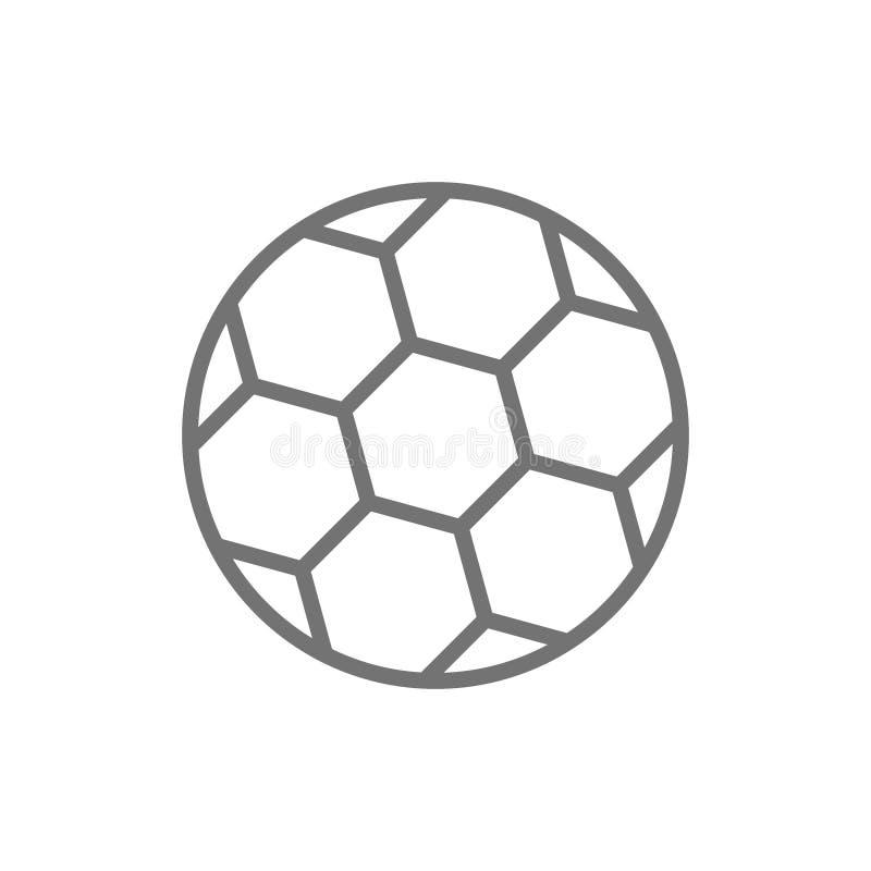 Διανυσματικό εικονίδιο γραμμών σφαιρών ποδοσφαίρου απεικόνιση αποθεμάτων