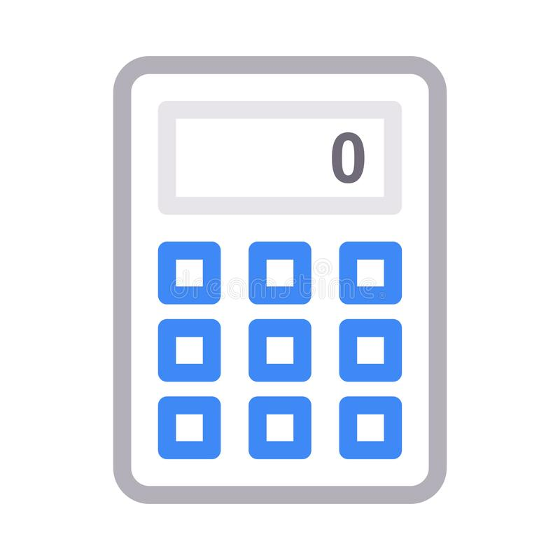 Διανυσματικό εικονίδιο γραμμών χρώματος υπολογιστών λεπτό διανυσματική απεικόνιση