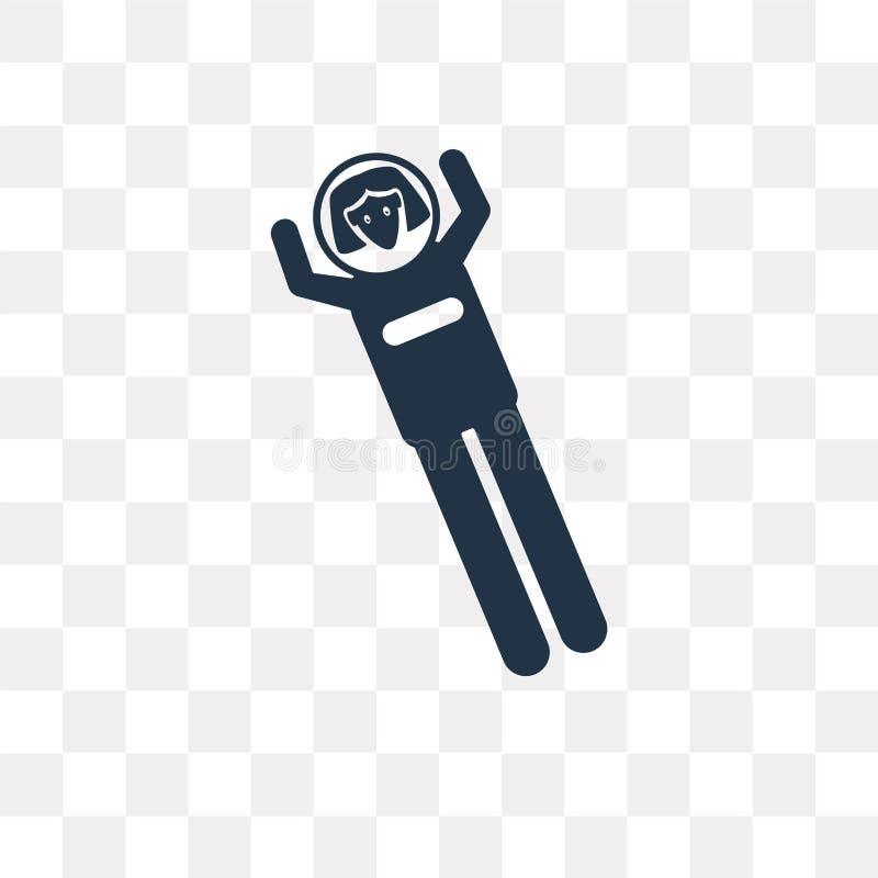 Διανυσματικό εικονίδιο γυναικών αστροναυτών που απομονώνεται στο διαφανές υπόβαθρο, ελεύθερη απεικόνιση δικαιώματος