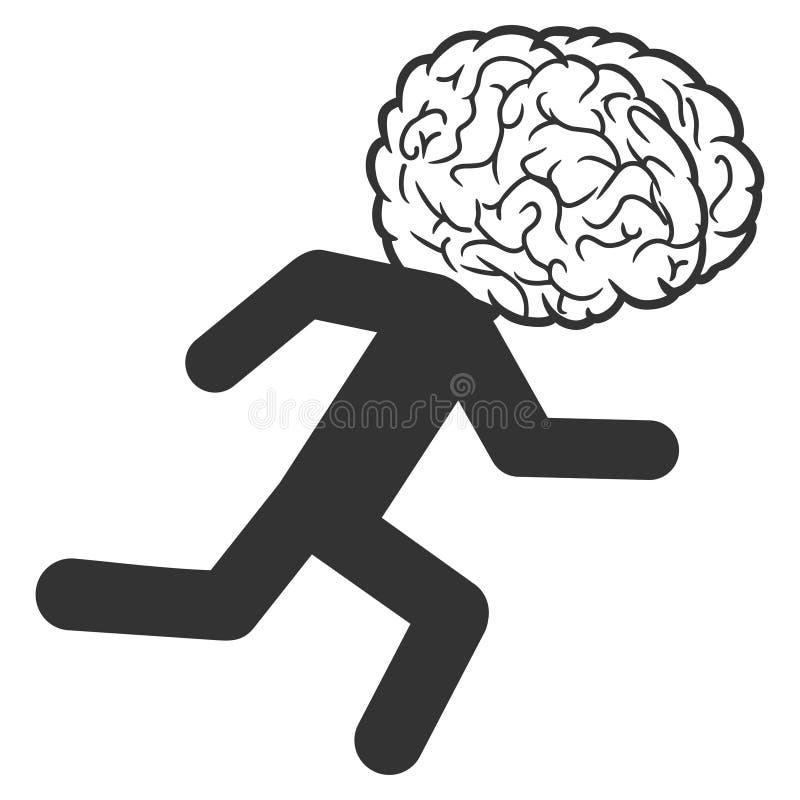 Διανυσματικό εικονίδιο διαρροής εγκεφάλων απεικόνιση αποθεμάτων