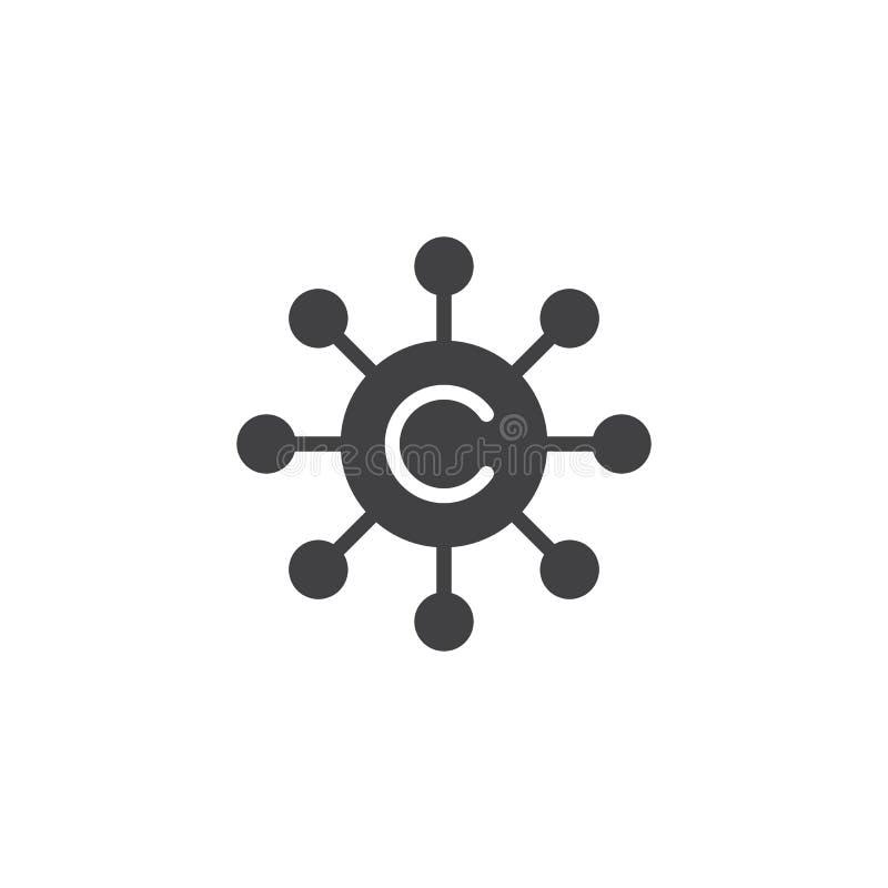 Διανυσματικό εικονίδιο δικτύων Copywriting διανυσματική απεικόνιση